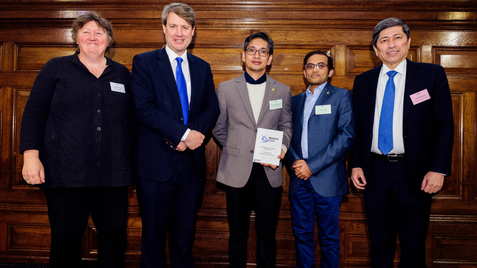 Image of Newton Prize 2019 Philippines winners at London event