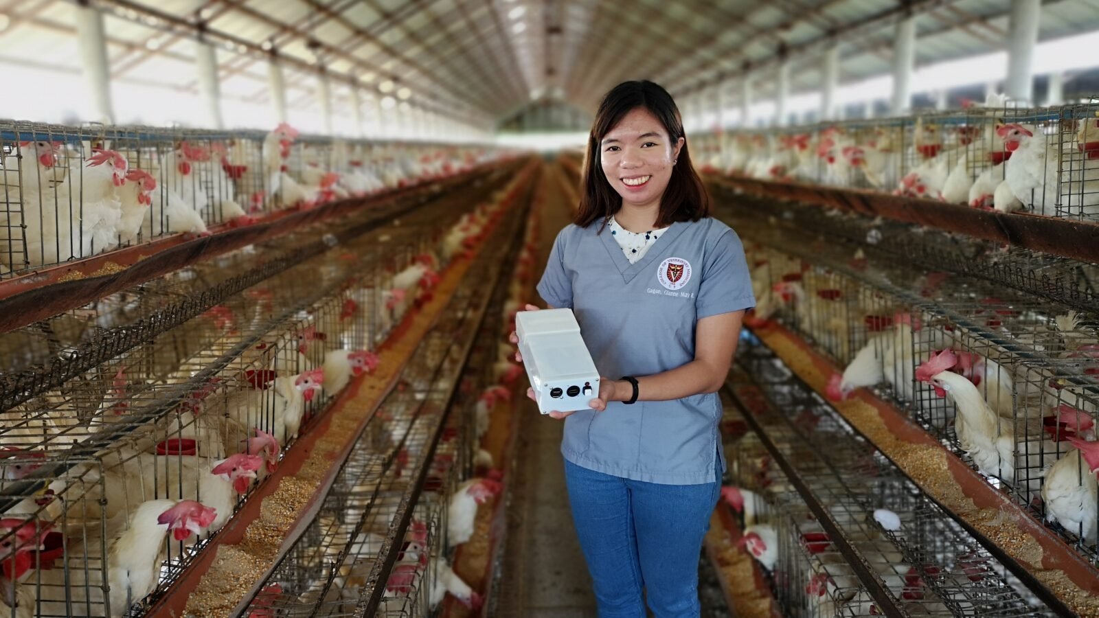 Newton Prize researcher demonstrates innovation in poultry farm in Philippines