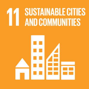 SDG goals icon portraying sustainable cities and communities