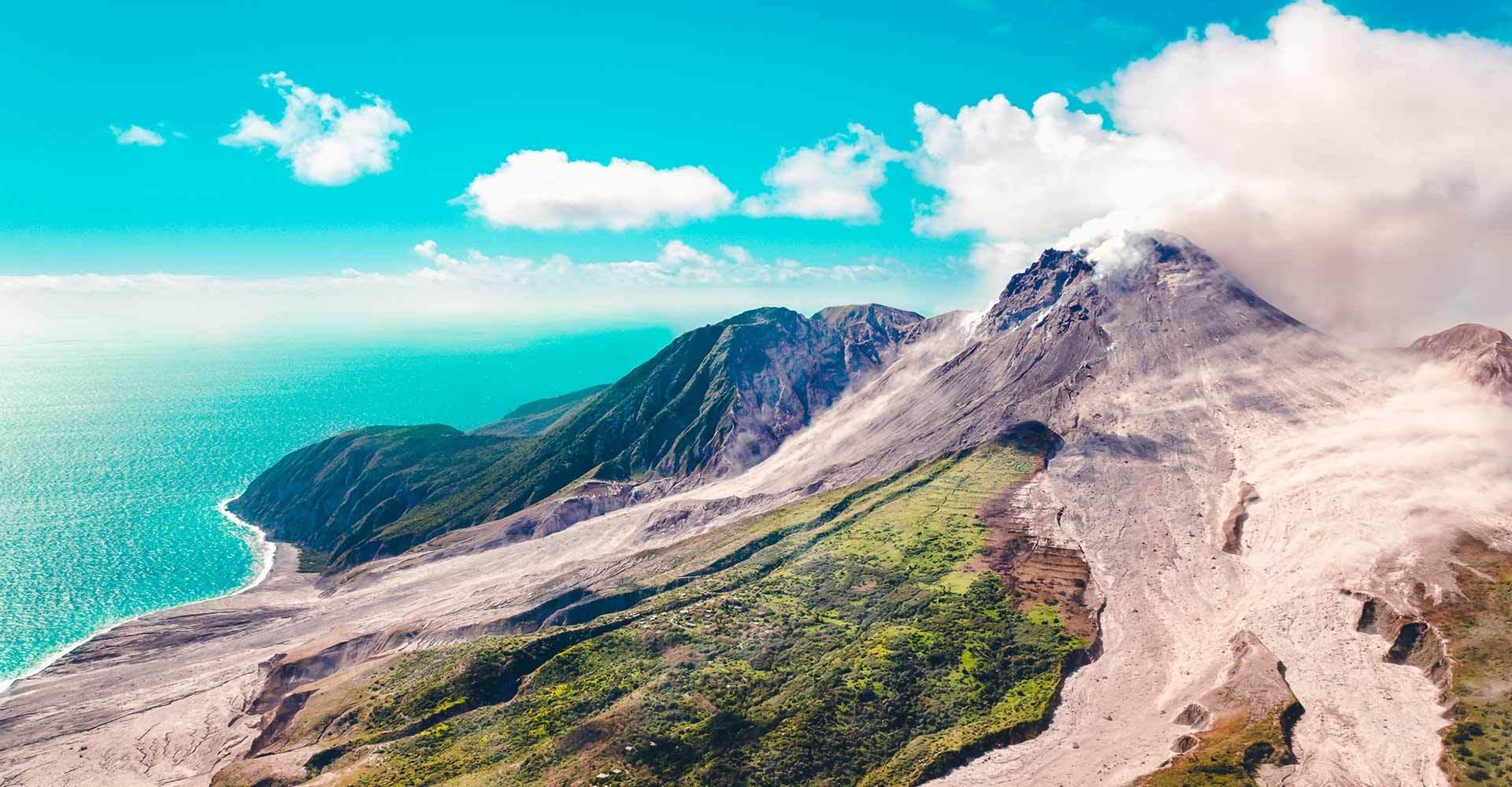 Landscape view of Montserrat
