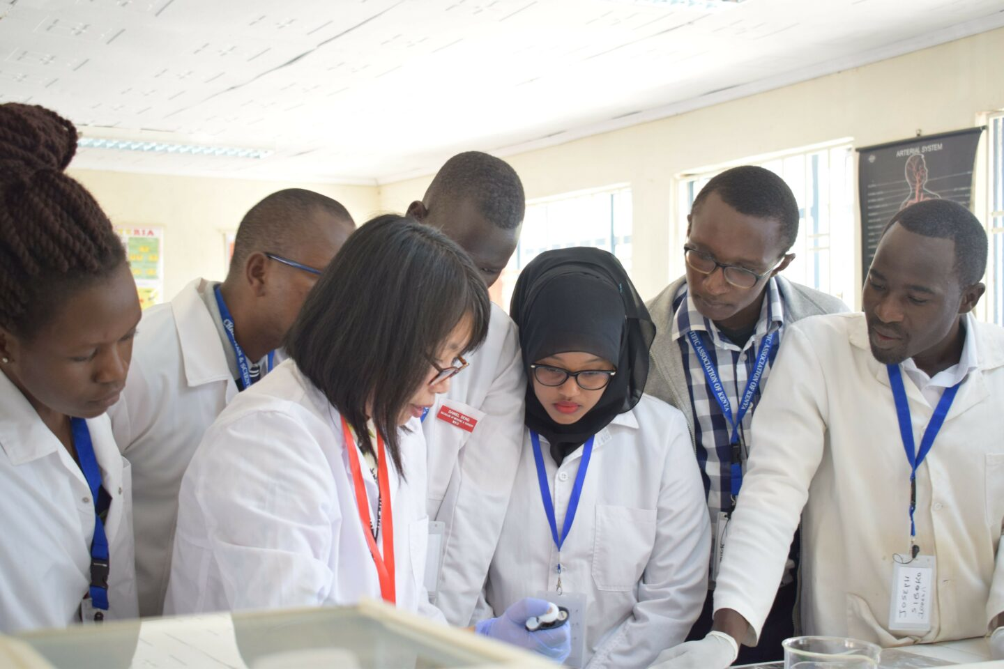 Kenya Newton Prize 2020 winning project researchers in the lab