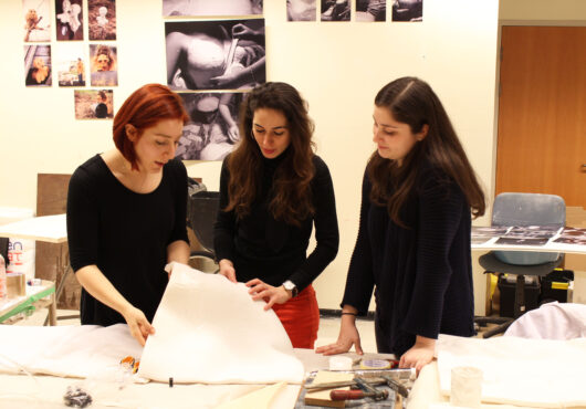 Dr Ozge Akbulut and researchers