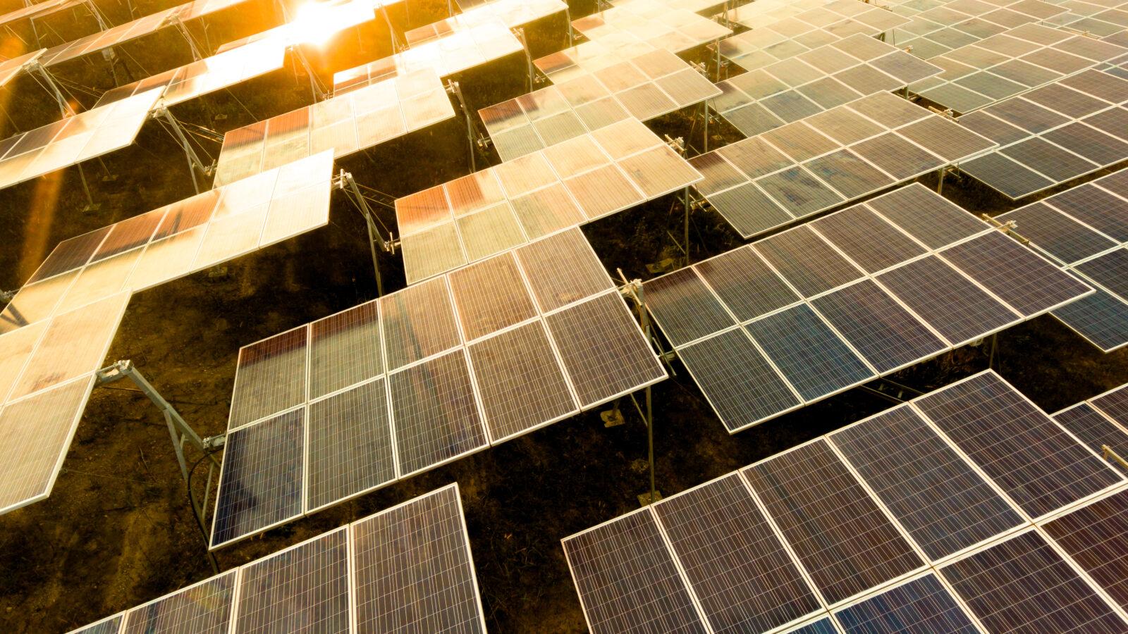 Image shows solar panels