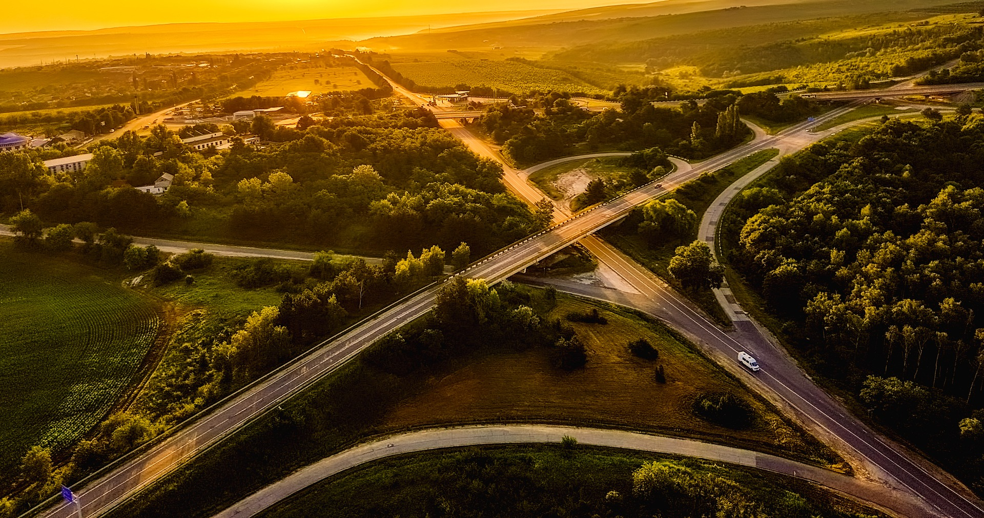 Aerial view Moldova