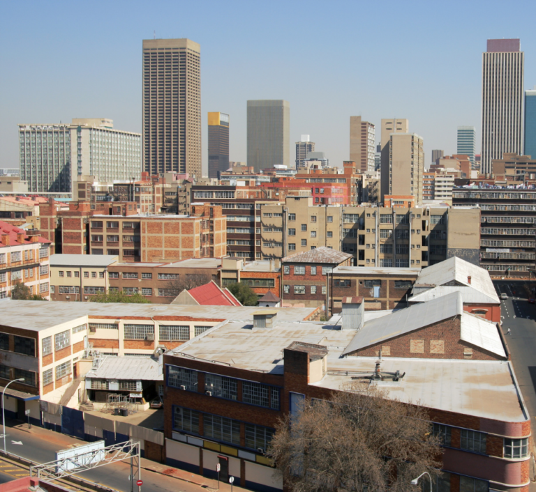 Downtown city Johannesburg, South Africa