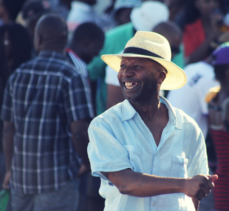 South Africa Township - Smiling African Man