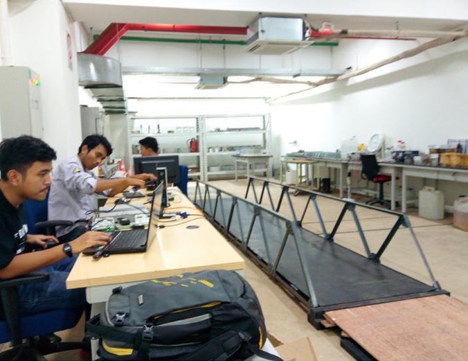testing bridge monitoring system in the lab
