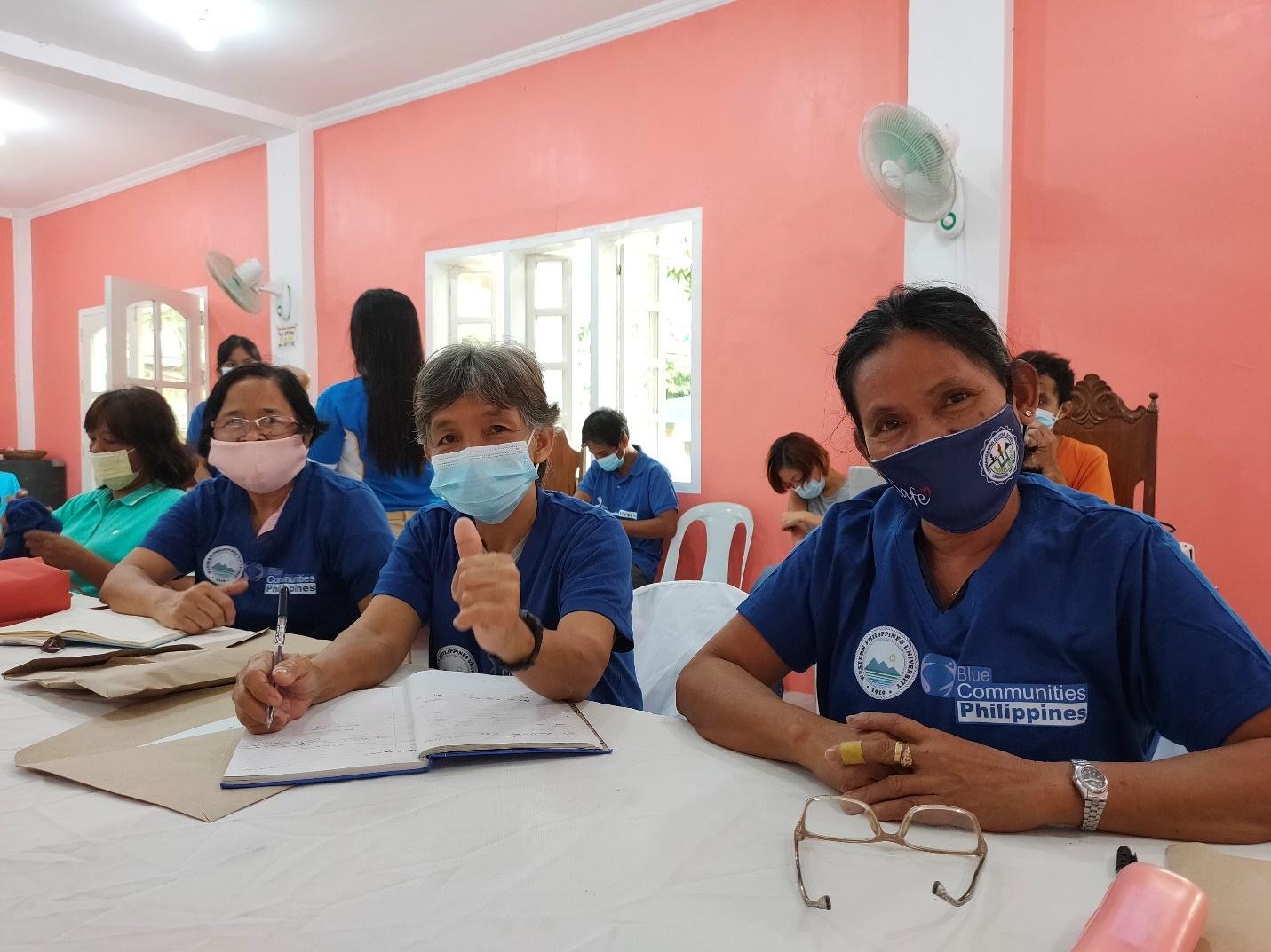 Village leaders during Blue Communities - Philippines' participatory planning workshop