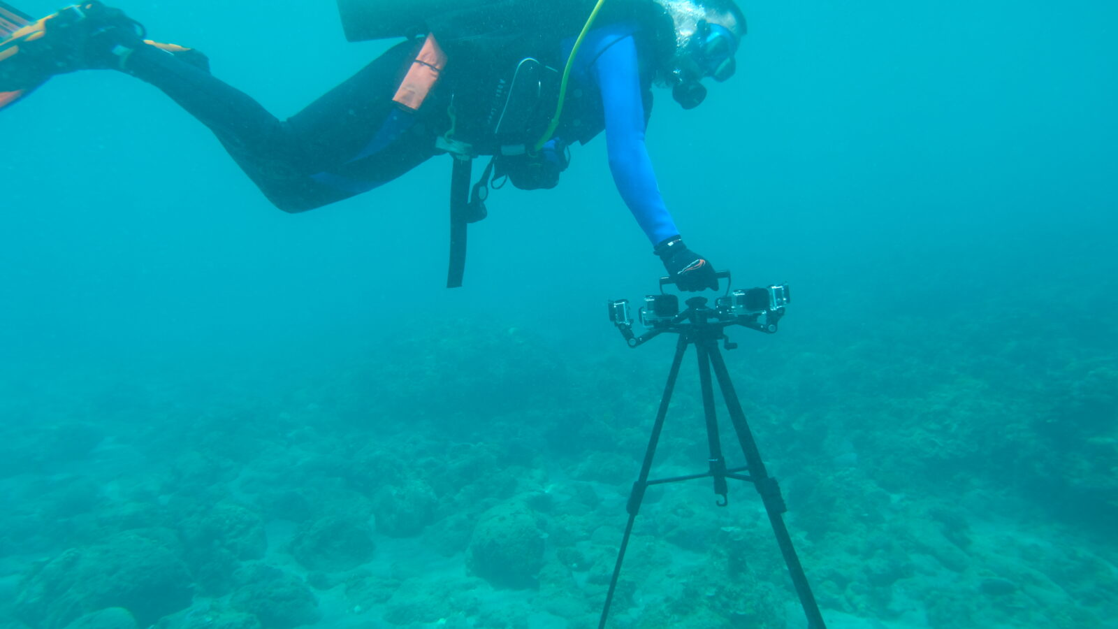 Setting up of Fish-I camera system within the area of study